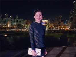 Woon Khe Wei wins Best Dressed Female award at a gala dinner ahead of the 2016 World Superseries Finals in Dubai. (photo: Woon Khe Wei's FB)