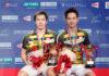 Kevin Sanjaya Sukamuljo/Marcus Fernaldi Gideon eye the BWF World Tour title. (photo: AFP)