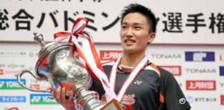 Kento Momota is the favorite to win BWF Male Player of the Year. (photo: AFP)