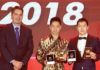 Marcus Fernaldi Gideon/Kevin Sanjaya Sukamuljo win the 2018 'Male Player of the Year' award. (photo: BWF)