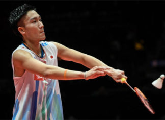 Kento Momota is top favorite to win the 2018 World Tour Finals. (photo: AFP)