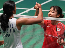 PV Sindhu and Nozomi Okuhara played relentless badminton in the longest match of the women's singles World Championships final in 2017 that lasted 110 minutes. (photo: AFP)