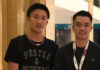 Kento Momota (L) arrives in Malaysia on Sunday. (photo: Khek Mong Ho's Facebook)
