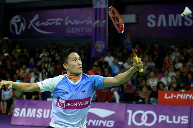Fans are excited to watch Kento Momota play in the 2018/2019 Purple League. (photo: Purple League's Facebook)