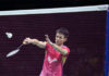 Daren Liew of Ahmedabad Smash Masters beats local favorite HS Prannoy of Delhi Dashers in the Premier Badminton League (PBL). (photo: AFP)