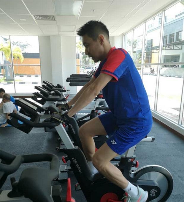 Lee Chong Wei back in training. (photo: Malaysian Sports)