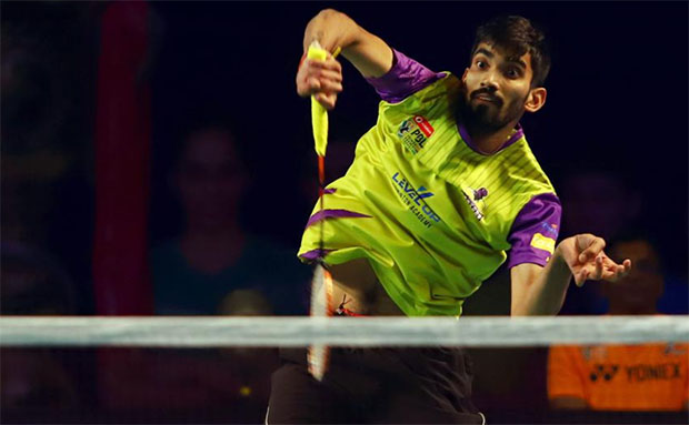 Kidambi Srikanth has gone undefeated in the 2018/2019 Premier Badminton League (PBL). (photo: PBL)