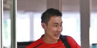 Lee Chong Wei looks positive and high energy on Monday. (photo: Bernama)