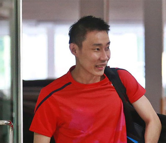 Lee Chong Wei looks positive and high energy on Monday. (photo: Bernama)