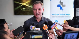 Morten Frost Hansen talks to media on Thursday. (photo: Bernama)