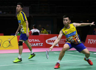 Goh V Shem/Tan Wee Kiong show poise as they produce some strong games at Thailand Masters. (photo: AFP)