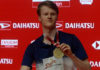 Anders Antonsen is another rising young badminton star from Denmark. (photo: Xinhua)