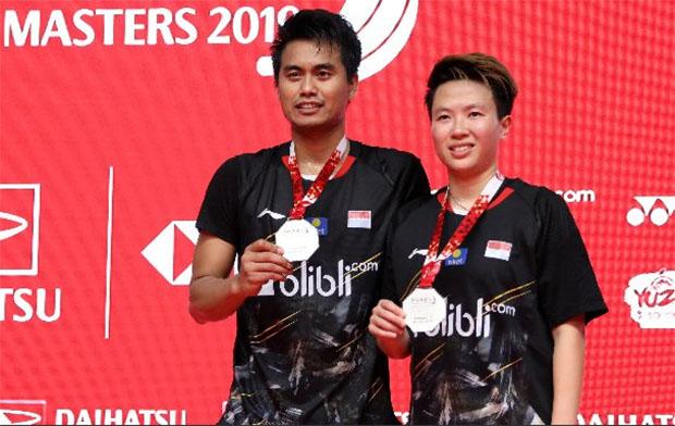 Liliyana Natsir/Tontowi Ahmad play their last tournament together at 2019 Indonesia Masters. (photo: PBSI)