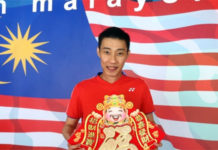Lee Chong Wei delivers Chinese New Year greetings to badminton fans around the world. (photo: Sinchew)