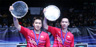 Kevin Sanjaya Sukamuljo/Marcus Fernaldi Gideon are already eyeing for gold medal at the 2020 Olympics. (photo: PBSI)