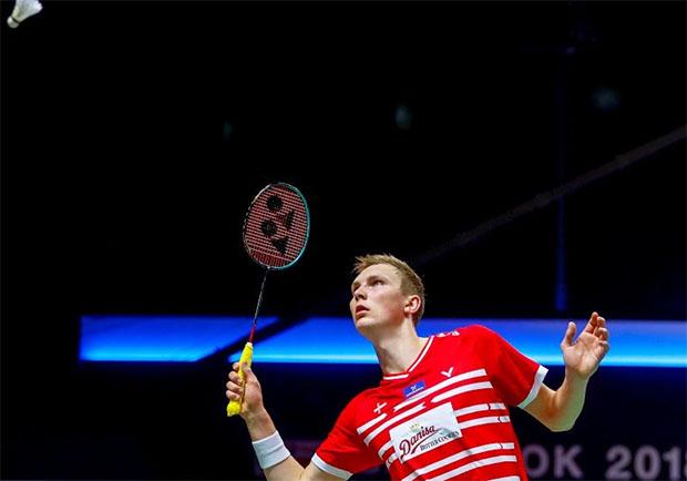 Viktor Axelsen lifts Denmark to 3-1 victory over Netherlands. (photo: EPA)