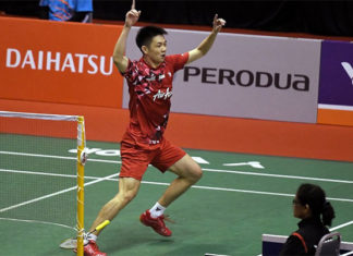 Daren Liew doesn't want to take too many risks at Malaysia national championships in order to avoid aggravating his injury. (photo: Bernama)