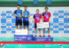 Ong Yew Sin/Teo Ee Yi and Aaron Chia/Soh Wooi Yik (from Left) stand on the podium during the award ceremony of the men's doubles event. (photo: BAM's Facebook)