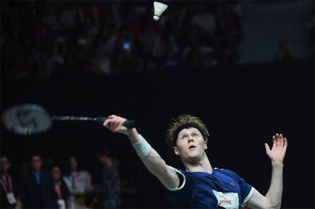 Anders Antonsen earns a chance to challenge Viktor Axelsen in Barcelona Spain Masters final. (photo: AFP)