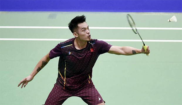 Lin Dan crashes out of the 2019 German Open. (photo: Xinhua)