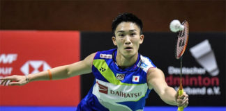 Kento Momota is one win away from the German Open title. (photo: WDR)