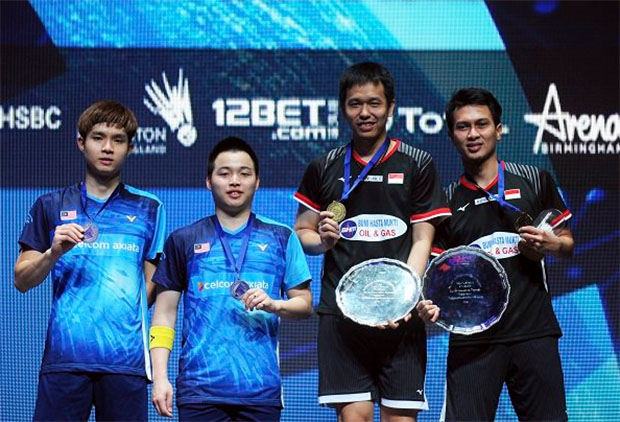Congratulations to Hendra Setiawan/Mohammad Ahsan for winning the 2019 All England title. (photo: AFP)