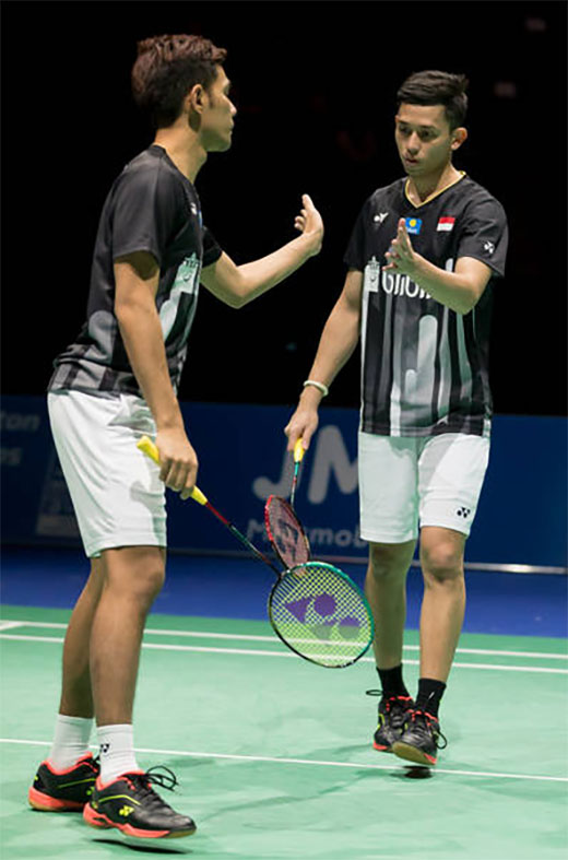 Fajar Alfian/Muhammad Rian Ardianto win their first title of 2019 at Swiss Open. (photo: Swiss Open)
