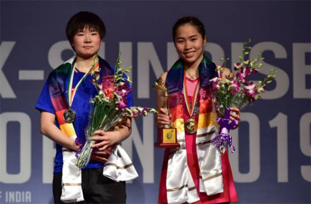 Congratulations to Ratchanok Intanon for winning the 2019 India Open. (photo: STR/AFP/Getty Images)
