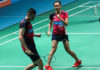 Tan Kian Meng/Lai Pei Jing celebrate their Malaysia Open quarter-final win against Tontowi Ahmad/Winny Oktavina Kandow. (photo: BAM)