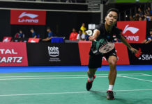 Anthony Sinisuka Ginting shocks Chou Tien Chen to reach Singapore Open final. (photo: Desmond Wee)