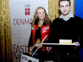 Joachim Persson received Samsung's Olympic talent prize in 2006. (photo: Brian Berg / Scanpix Denmark)