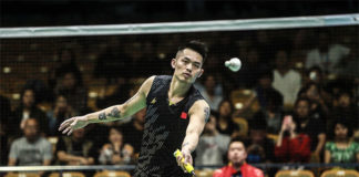 Lin Dan moves into the Badminton Asia Championships second round. (photo: Sina)