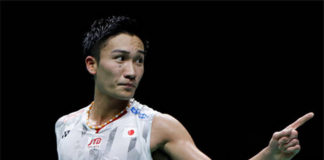 Kento Momota to play Shi Yuqi in the Badminton Asia Championships final. (photo: Fred Lee/Getty Images)