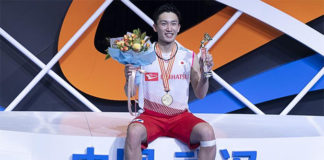 Kento Momota declares a new generation of players is taking over badminton. (photo: Wang He/Getty Images)