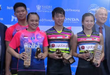 Congratulations Chan Peng Soon/Goh Liu Ying's outstanding performance for winning the 2019 New Zealand Open.
