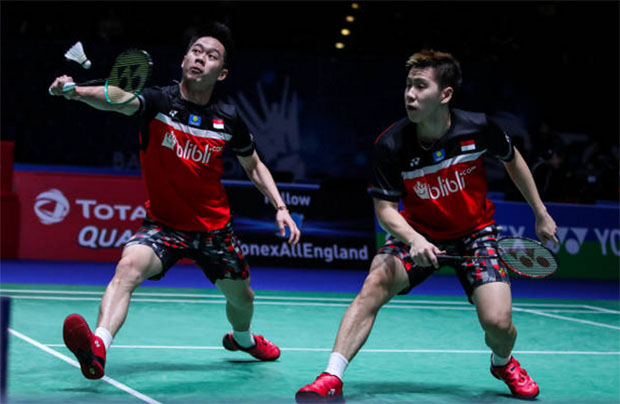 Kevin Sanjaya Sukamuljo/Marcus Fernaldi Gideon are keys to Indonesia's Sudirman Cup success. (photo: Shi Tang/Getty Images)