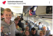 The Denmark team looks happy and motivated. (photo: badmintondenmark IG)