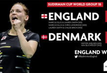 England shock Denmark 3-2 at Sudirman Cup on Monday. (photo: Badminton England)