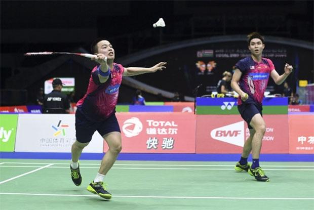 Aaron Chia/Soh Wooi Yik register a 0-1 career meeting record against either World No. 2 Takeshi Kamura/Keigo Sonoda or World No. 6 Hiroyuki Endo/Yuta Watanabe of Japan. (photo: AFP)