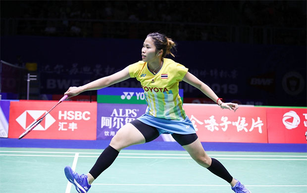 Ratchanok Intanon's heroine act helps propel Thailand into the 2019 Sudirman Cup semi-final. (photo: Osport)