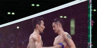 The end of Lee Chong Wei (L) - Lin Dan rivalry era. (photo: AFP)