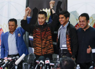 Olympic Council of Malaysia confirms Lee Chong Wei as chef de mission for Tokyo Olympics. (photo: Adli Ghazali/Anadolu Agency/Getty Images)