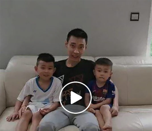Lee Chong Wei and his sons wish dads everywhere a Happy Father's Day. (photo: Lee Chong Wei's Facebook)