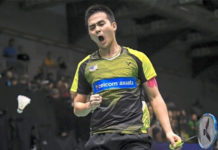 Soong Joo Ven is a rising badminton player with big dreams. (photo: Bernama)