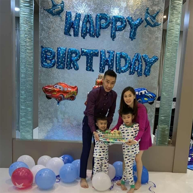 Lee Chong Wei and Wong Mew Choo celebrate Terence's 4th Birthday. (photo: Lee Chong Wei's Facebook)