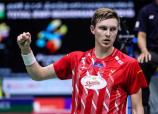 Wish Viktor Axelsen a speedy recovery. (photo: Shi Tang/Getty Images)