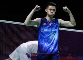 Lee Zii Jia pulls off an upset to beat Chen Long in Indonesia Open second round. (photo: Shi Tang/Getty Images)