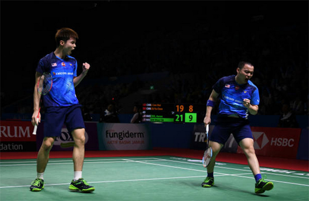 Aaron Chia/Soh Wooi Yik to meet Marcus Fernaldi Gideon/Kevin Sanjaya Sukamuljo in the 2019 Japan Open quarter-finals. (photo: Robertus Pudyanto/Getty Images)