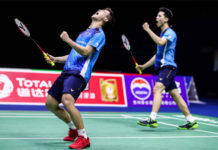 Ong Yew Sin/Teo Ee Yi produce a brilliant performance in the Thailand Open first round. (photo: AFP)