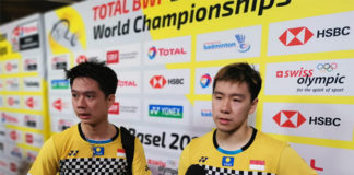 Marcus Fernaldi Gideon and Kevin Sanjaya Sukamuljo once again miss the chance of winning the World Championships. (photo: BWF)